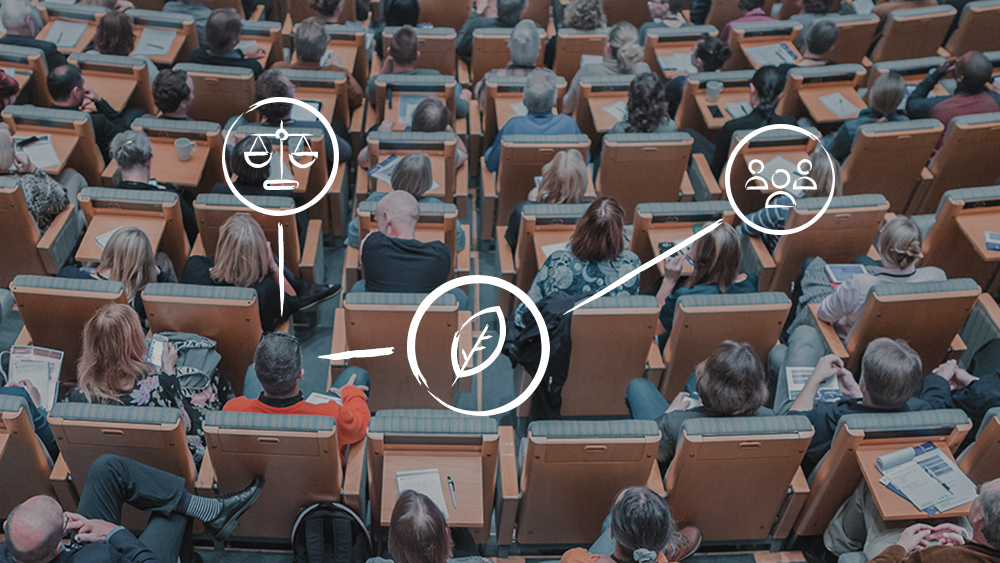 Photo of people attending a conference
