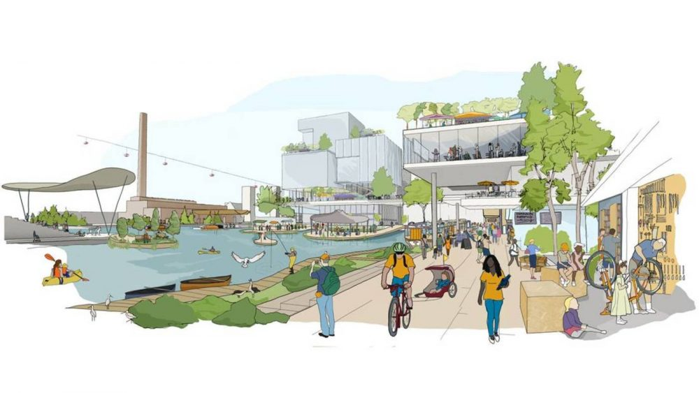 Sidewalk Labs' illustrated vision for Toronto's Quayside neighbourhood.