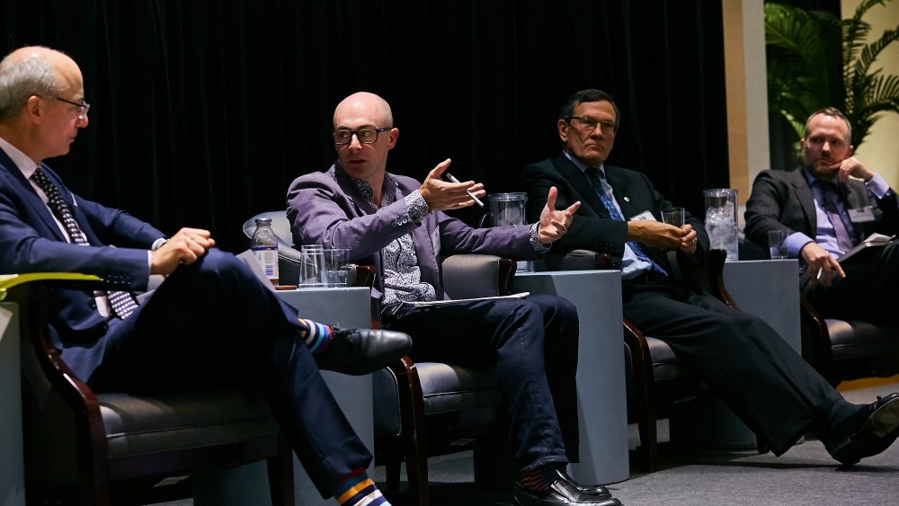 Wesley Gee speaks on a panel session at IR Magazine's ESG Integration Forum.