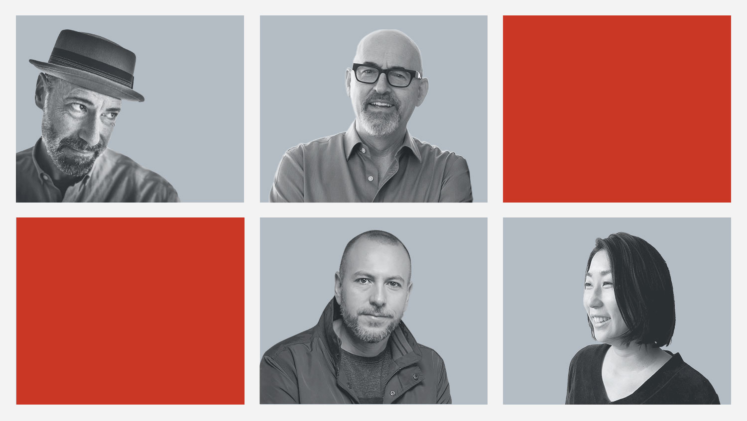 Works Design's 2020 Sustainability Reporting Trends team of designers: Don Laurie (top left), Kevin Ward (top right), Nelson Silva (bottom left) and Chie Momota (bottom right)
